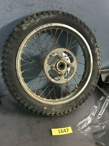 Honda  XL100 XL125 Rear Wheel Hub rim tire 3.25-17 1977 USed