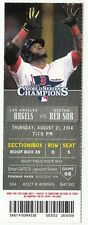 2014 BOSTON RED SOX VS LOS ANGELES ANGELS 8/21/14 TICKET STUB SHOEMAKER 1 HITTER