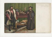 The Ambassadors by Holbein Vintage Art Postcard 371a