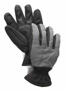 Saddlebred Men's Fleece Lined Outdoor Gloves with Touch Technology - Charcoal