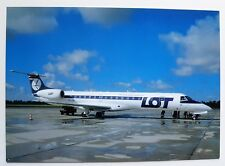 LOT Polish Airlines Embraer RJ145EP postcard