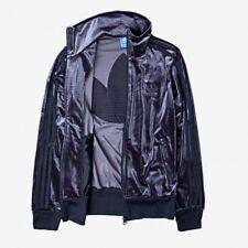 adidas® Originals Firebird Women's Velour Jacket Size M Legend Ink Track Top NEW