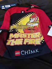 "Lego Legends of Chima ""Master the Fire"" 16 inch Red Backpack New Heritage Basic"