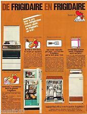 PUBLICITE ADVERTISING 105  1967  FRIGIDAIRE   lave vaisselle machine à laver cui