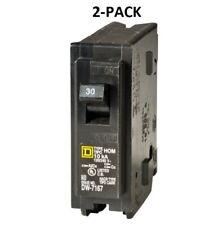 2 Pack Square D Homeline 30 Amp Single Pole Circuit Breaker Hom130cp