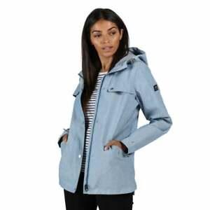 Regatta Women's Bertille Waterproof Hooded Jacket - Blue Chambray Size 20 BNWT
