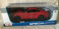 2015 FORD MUSTANG GT 5.0 RED 1/18 DIECAST CAR MODEL MAISTO 31197 SPECIAL EDITION