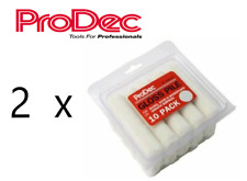 """2 x ProDec Gloss Pile Mini 4"""" Mohair Paint Rollers Refills (10-Pack)"""