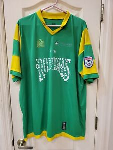 Distressed Tampa Bay Rowdies Green Admiral Soccer Jersey NASL CHAMPS Men's XXL