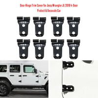 8X Door Hinge Trim Cover for Jeep Wrangler JL 2018 Unlimited 4-Door Black L2T7