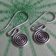 Earring Coil Pure Silver Karen Hill tribe