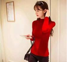 Knitted Turtle Neck Longsleeve - Red