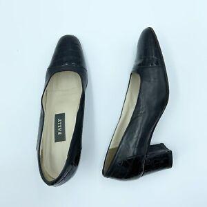 Women's Vintage Bally Mariner Croc Embossed Heel Size 6