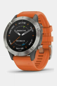 Garmin Fenix 6 Sapphire Titanium Multisport GPS Watch