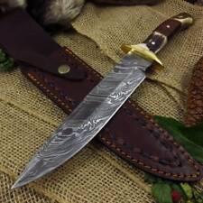 Couteau Damas Plainsman Lame Acier 256 Couches Manche bois de Chevreuil DM1044