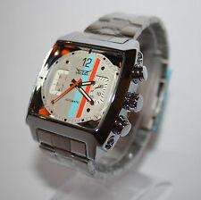 Nuevo Jaragar reloj hombre racing white acero inoxidable reloj automatico Super