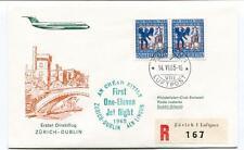FFC 1965 Swissair First Direct Flight Zurich Dublin Irland REGISTERED Helvetia