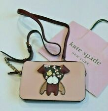 Kate Spade Hand Bag / Cross Body FLORAL PUP Burgundy Leather RRP £189