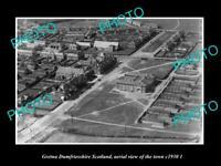 OLD POSTCARD SIZE PHOTO GRETNA DUMFRIESSHIRE SCOTLAND TOWN AERIAL VIEW c1930 2