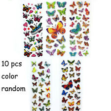 10 Sheets Colorful Butterflies Scrapbooking Bubble Puffy Stickers Reward Toys