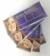 SET X 5 CASES ORTHODONTIC BRACKETS MONOBLOCK MINI ROTH .022 W/H 3,4,5 / USA