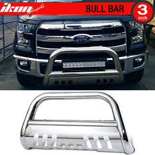 For 04-14 Ford F150 3 Inch Stainless Bull Bar Brush Push Bumper Grille Guard
