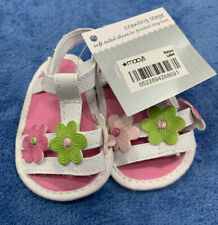 Infant Size 1 Girls White Sandals W Flowers MACY'S New With Tags
