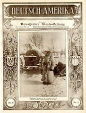 Allemand-Amérique New-Yorkais chefs d'état JOURNAL Orig. Couverture du 11. mars 1916