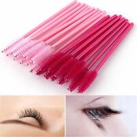 50pcs Disposable Mascara Wand Brush Eyelash Extension Applicator Makeup Tools~