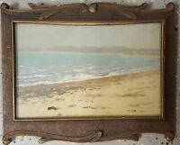 ANTIQUE 1920 AMERICAN IMPRESSIONIST ATLANTIC OCEAN NEW ENGLAND COAST PAINTING MA