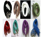 Wholesale 8color Suede Leather String 20inch Necklace Cords multiple color