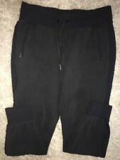 Lululemon LARGE RIBBED Men's Jogger Pants ZIP POCKETS Black