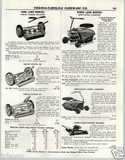 1956 PAPER AD Mow Cycle Cadet Gas 3 Wheeled  Power Lawn Mower Sunbeam Mowamatic
