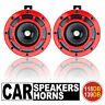 12V Dual Tone Red Grille 139DB Mount Super Loud Car Speakers Horns For Holden