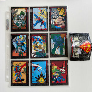 1992 Skybox: Doomsday The Death of Superman - 13 Card Lot + Empty Pack