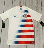 Nike 2018 USA Home Men's Soccer football Jersey 893902-100 White Authentic S M L