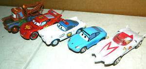 5 CARRERA DISNEY PIXAR CARS SPEED RACER MACH 5 SLOT CAR LOT TOW MATER MCQUEEN