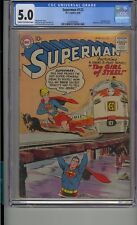 SUPERMAN #123 CGC 5.0 SUPERGIRL TRYOUT SUPERMAN RETURNS TO KRYPTON ACTION 252