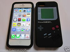 Black Nintendo Game Boy Gameboy iphone SE 5S 5G 5 Silicone Full Back Case NEW