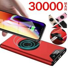 1000000mAh Qi Wireless Power Bank Charging USB LCD Portable Battery Charger HOT