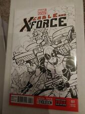 Cable and X-Force #1 original sketch Cable Deadpool
