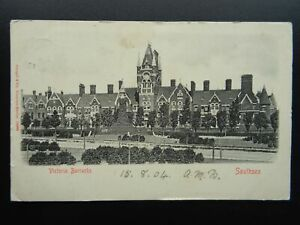Hampshire Portsmouth SOUTHSEA Victoria Barracks c1903 UB Postcard by Stengel