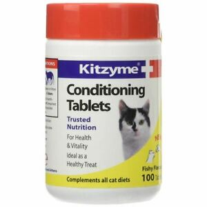 Bob Martin Kitzyme Cat Conditioning Tablets 100 Kitten Supplement Fishy Flavour