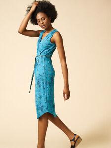 White Stuff Dress uk 16 BNWOT Avery Print  Wrap Batik Inspired