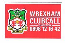 ClubCall Club Call Football Card Early Issue 1980s - Wrexham
