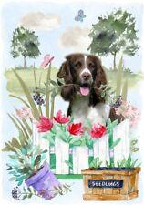 "English Springer Spaniel Dog (4"" x 6"") Blank Card / Notelet Design By Starprint"