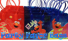 12 pcs Elmo Sesame Street Party Favor Bags Candy Treat Birthday Loot Gift Sack