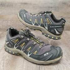 Salomon Mens XA Pro 3D Ultra Hiking Shoe Black Yellow Gray Lace Up Size 10.5
