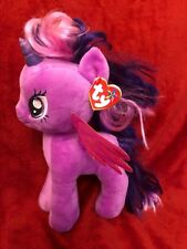 "TY Twilight Sparkle 11"" My Little Pony Beanie Buddies Purple Unicorn 2014"