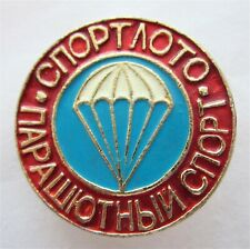 USSR SPORT LOTTERY - PARACHUTING SPORT PIN